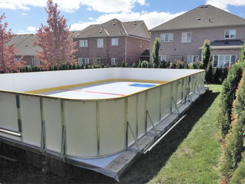 home synthetic ice rink Backyard